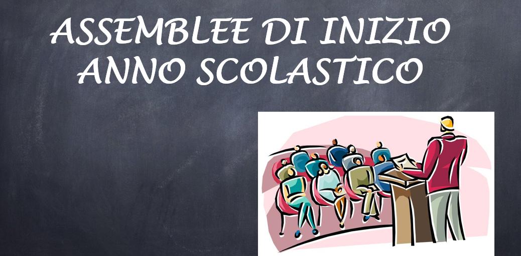 ASSEMBLEE DI INIZIO ANNO SCOLASTICO