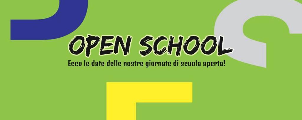 Le date delle giornate di scuola aperta!